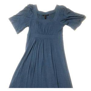BCBGMaxAzria Steele Blue Umpire Waist Dress